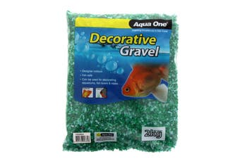 Aquarium Decorative Gravel Mixed Aqua & Green 2mm 2kg Fish Tank 10286G Aqua One