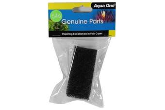 Aquarium Sponge 25054S Fish Tank Aqua One Replacement Filter Double Pack