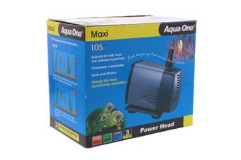 Maxi 105 Power Head Pump 2200 L/hr 2.5m 45W Fish Tank Aquarium Aqua One 11325