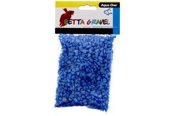 Aquarium Gravel Betta Metallic Blue 350g Fish Tank Decoration 12235 Aqua One
