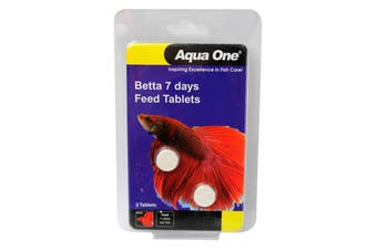 Betta 7 Days Feed Tablets 2 Tabs Aquarium 95019 Slow Release Fish Food Aqua One