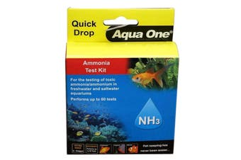 Aquarium Test Kit Amonia NH3 Quick Drop 92053 Fish Tank Aqua One