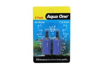 Aquarium Air Stone 2.5cm 2 Pack 10144 Fish Tank Aqua One