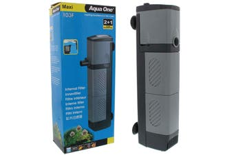 Aqua One Maxi 103F Internal Aquarium Power Filter 960L/H Clean Water Fish Tank