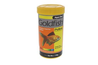 Goldfish Pellet Fish Food 2mm 190g 26032 Fish Tank Aquarium Aqua One