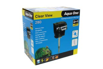 280 Clearview Hang On Filter 300 L/Hr 11527 Fish Tank Aquarium Aqua One