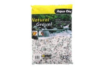 Aquarium Decorative Gravel Natural All Sorts 2kg Fish Tank 12201 Aqua One Rocks