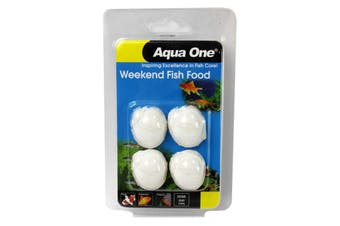 Weekend Fish Food Blocks Aquarium 95004 Slow Release Aqua One