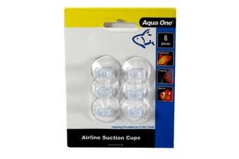 Aquarium Air Line Suction Cups 6 Pack 19104 Fish Tank Aqua One