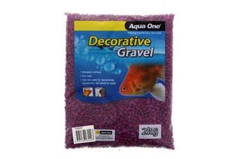 Aquarium Decorative Gravel Purple 7mm 2kg Fish Tank Decoration 10283P Aqua One
