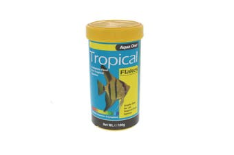 Tropical Flake Fish Food 100g 11558 Fish Tank Aquarium Aqua One
