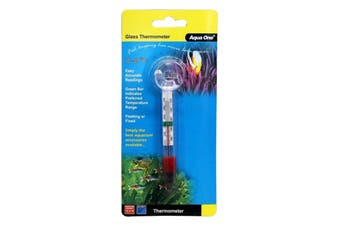 Aquarium Glass Thermometer 10306 Fish Tank Aqua One Floating Or Fixed Accurate