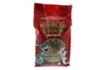 Peters Rabbit & Guinea Pig Nibble & Gnaw Banquet Pet Food 4kg Premium Quality