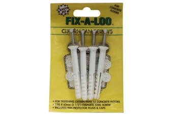 Fix-A-Tap Cistern Pan Screws 12G 2 1/2 Inch 63mm STAINLESS STEEL Screw 232014