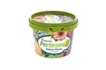 Ferticote Native Plants 17-2-9-2 NPKCa 500g Amgrow Controlled Release Fertiliser