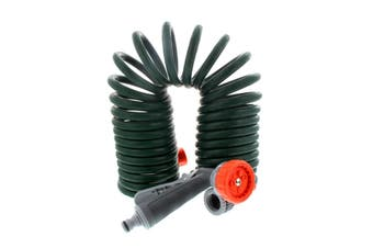 Garden Spiral Hose Coil 7.5m With Hand Spray 7 Pattern Nozzle Pope