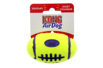 KONG Airdog Squeaker Football Small Dog Toy Squeaker Interactive Fun Soft