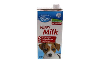 Puppy Milk 1 Litre Pets Own Dog Essential Natural Growth Supplement Food