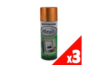 Metallic Copper Spray Paint And Primer All-In-One 312g Rustoleum 3 Pack