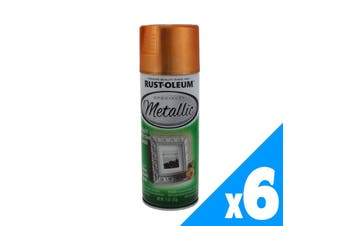 Metallic Copper Spray Paint And Primer All-In-One 312g Rustoleum 6 Pack