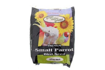 Small Parrot Seed Mix 2kg Bird Food Green Valley Grey Sunflower Oats Pannicum