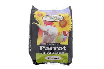 Parrot Seed Mix 2kg Bird Food Green Valley Barley Oat Grey Sunflower Whole Maize