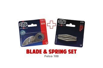 Blade and Spring Set for FELCO 100 (100/3 Blade & 2/91 Springs) Swiss Made