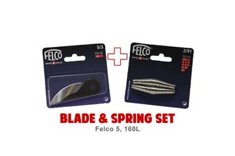 Blade and Spring Set for FELCO 160L (5/3 Blade & 2/91 Springs) Swiss Made