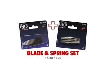 Blade and Spring Set for FELCO 160S (160S/3 Blade & 6/91 Springs) Swiss Made