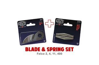 Blade and Spring Set for FELCO 2 4 11 400 (2/3 Blade & 2/91 Springs) Swiss Made