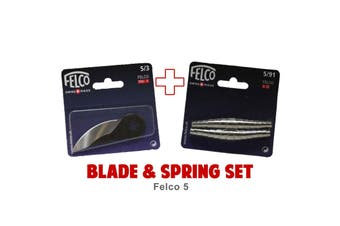 Blade and Spring Set for FELCO 5 (5/3 Blade & 5/91 Springs) Swiss Made