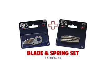 Blade and Spring Set for FELCO 6 12 (6/3 Blade & 6/91 Springs) Swiss Made