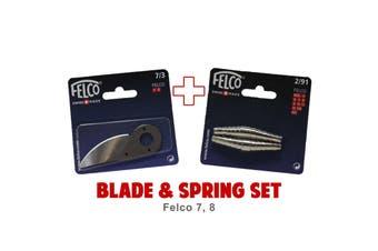 Blade and Spring Set for FELCO 7 8 (7/3 Blade & 2/91 Springs) Swiss Made