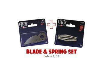 Blade and Spring Set for FELCO 9 10 (9/3 Blade & 2/91 Springs) Swiss Made