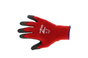 Red Knight Latex Gripmaster Gloves XL Pair Safety Seamless Nylon Lycra Strong