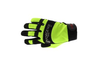 G-Force Hi Vis Mechanics Riggers Gloves XL Pair Safety Synthetic Leather Work
