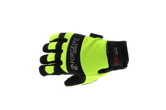 G-Force Heatlock Mechanics Gloves XL Pair Safety Neoprene Breathable Leather