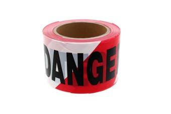 Danger Do Not Enter Safety Tape 75mm x 100m Non Adhesive Polyethylene Tough
