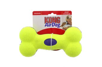 KONG Dog Airdog Squeaker Bone Large Dogs Erratic Bounce Gentle on Teeth and Gums