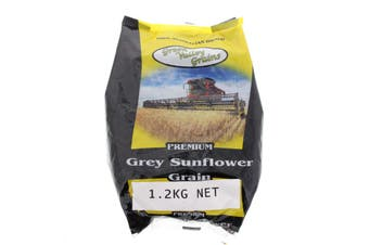 Grey Sunflower Grain 1.2kg Bird Food Green Valley Feed Aviary Healthy Nutrition