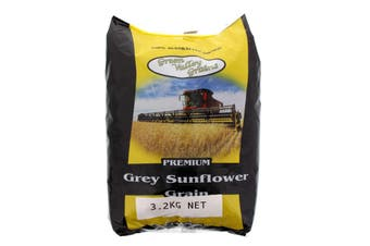 Grey Sunflower Grain 3.2kg Bird Food Green Valley Feed Aviary Healthy Nutrition