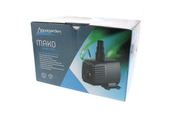 Pond Pump Mako 1000 12W Max Flow 1050 L/h Max Head 1.4m 10m Cable Water Feature
