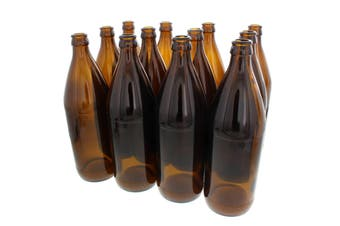 Beer Bottle Amber 750ml Box Of 12 Safely Packaged Protected Shipping Home Brew