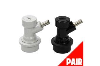 Ball Lock Disconnect Pair 1 x Gas 1 x Liquid (PL Barbed) Home Brew