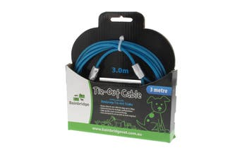 Tie Out Cable 3m Bainbridge Includes Two Snap Hooks Crack Resistant Easy Setup