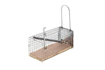 Mouse Trap Cage 11.5cm Bainbridge Simple Trap Door Galvanised Build Humane