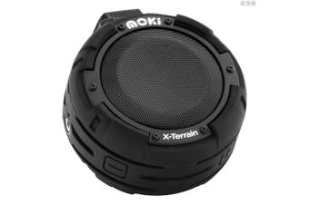 Moki X-Terrain Bluetooth Speaker Black iPhone Android Samsung Phone