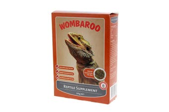 Wombaroo Reptile Supplement 250g High Protein Whey Soy Meat Fish Blood Meal