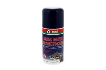 Mac Mite Spray 100g Controls Snake Mites In Reptile Enclosures Aerosol Can