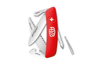 FELCO 506 Swiss Knife 10 Functions Blade Screwdriver Saw Made In Switzerland